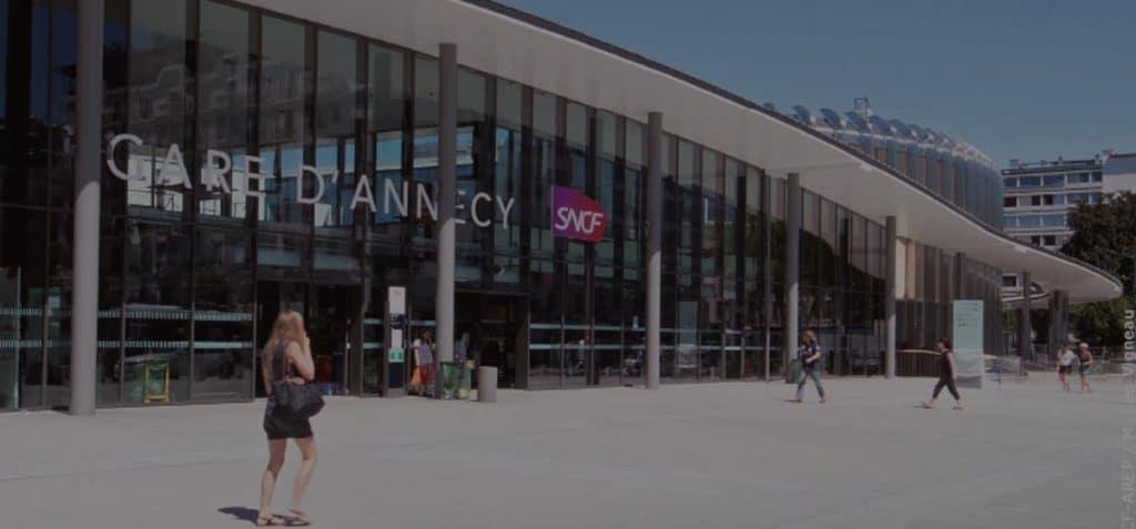 Gare d'Annecy en taxi